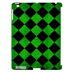 Square2 Black Marble & Green Brushed Metal Apple Ipad 3/4 Hardshell Case (compatible With Smart Cover)