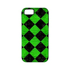 Square2 Black Marble & Green Brushed Metal Apple Iphone 5 Classic Hardshell Case (pc+silicone)