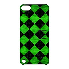 Square2 Black Marble & Green Brushed Metal Apple Ipod Touch 5 Hardshell Case With Stand
