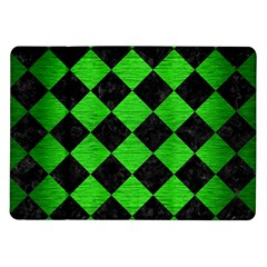 Square2 Black Marble & Green Brushed Metal Samsung Galaxy Tab 10 1  P7500 Flip Case