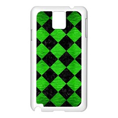 Square2 Black Marble & Green Brushed Metal Samsung Galaxy Note 3 N9005 Case (white)