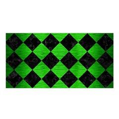 Square2 Black Marble & Green Brushed Metal Satin Shawl