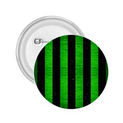 Stripes1 Black Marble & Green Brushed Metal 2 25  Buttons