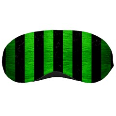 Stripes1 Black Marble & Green Brushed Metal Sleeping Masks
