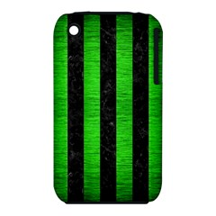 Stripes1 Black Marble & Green Brushed Metal Iphone 3s/3gs