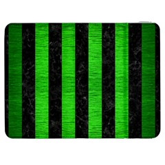 Stripes1 Black Marble & Green Brushed Metal Samsung Galaxy Tab 7  P1000 Flip Case