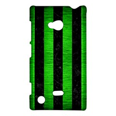 Stripes1 Black Marble & Green Brushed Metal Nokia Lumia 720