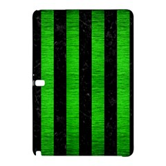 Stripes1 Black Marble & Green Brushed Metal Samsung Galaxy Tab Pro 12 2 Hardshell Case