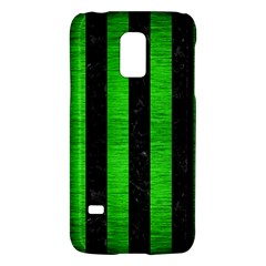 Stripes1 Black Marble & Green Brushed Metal Galaxy S5 Mini