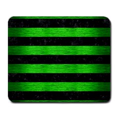 Stripes2 Black Marble & Green Brushed Metal Large Mousepads