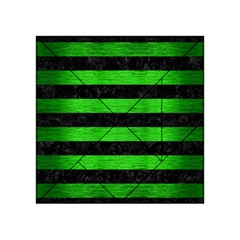 Stripes2 Black Marble & Green Brushed Metal Acrylic Tangram Puzzle (4  X 4 )