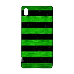 Stripes2 Black Marble & Green Brushed Metal Sony Xperia Z3+