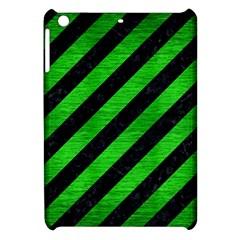Stripes3 Black Marble & Green Brushed Metal Apple Ipad Mini Hardshell Case