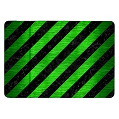 Stripes3 Black Marble & Green Brushed Metal Samsung Galaxy Tab 8 9  P7300 Flip Case