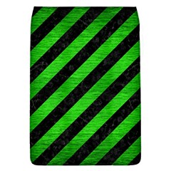 Stripes3 Black Marble & Green Brushed Metal Flap Covers (l)