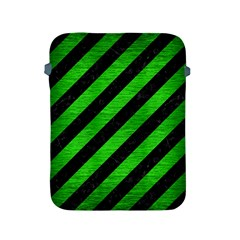 Stripes3 Black Marble & Green Brushed Metal Apple Ipad 2/3/4 Protective Soft Cases