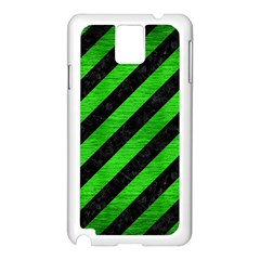 Stripes3 Black Marble & Green Brushed Metal Samsung Galaxy Note 3 N9005 Case (white)