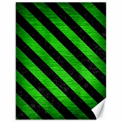 Stripes3 Black Marble & Green Brushed Metal (r) Canvas 12  X 16