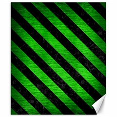Stripes3 Black Marble & Green Brushed Metal (r) Canvas 20  X 24
