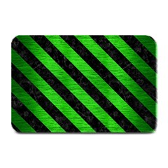 Stripes3 Black Marble & Green Brushed Metal (r) Plate Mats