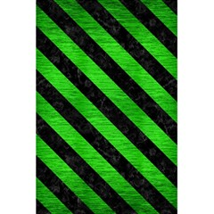 Stripes3 Black Marble & Green Brushed Metal (r) 5 5  X 8 5  Notebooks