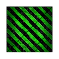 Stripes3 Black Marble & Green Brushed Metal (r) Acrylic Tangram Puzzle (6  X 6 )