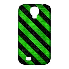 Stripes3 Black Marble & Green Brushed Metal (r) Samsung Galaxy S4 Classic Hardshell Case (pc+silicone)