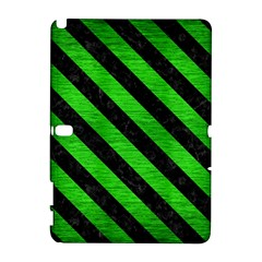Stripes3 Black Marble & Green Brushed Metal (r) Galaxy Note 1