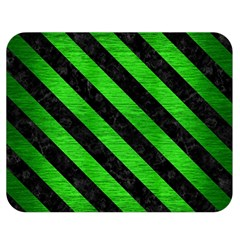 Stripes3 Black Marble & Green Brushed Metal (r) Double Sided Flano Blanket (medium)
