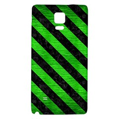 Stripes3 Black Marble & Green Brushed Metal (r) Galaxy Note 4 Back Case