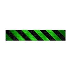 Stripes3 Black Marble & Green Brushed Metal (r) Flano Scarf (mini)
