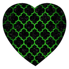 Tile1 Black Marble & Green Brushed Metal Jigsaw Puzzle (heart)