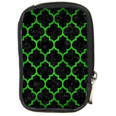 Tile1 Black Marble & Green Brushed Metal Compact Camera Cases