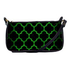 Tile1 Black Marble & Green Brushed Metal Shoulder Clutch Bags