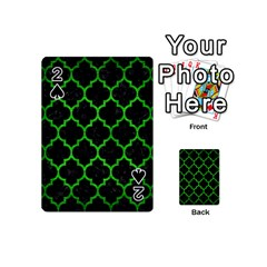 Tile1 Black Marble & Green Brushed Metal Playing Cards 54 (mini)