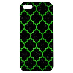 Tile1 Black Marble & Green Brushed Metal Apple Iphone 5 Hardshell Case