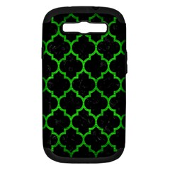 Tile1 Black Marble & Green Brushed Metal Samsung Galaxy S Iii Hardshell Case (pc+silicone)