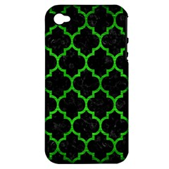 Tile1 Black Marble & Green Brushed Metal Apple Iphone 4/4s Hardshell Case (pc+silicone)