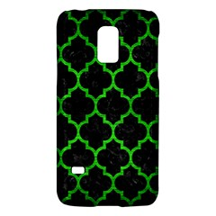 Tile1 Black Marble & Green Brushed Metal Galaxy S5 Mini