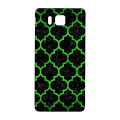 Tile1 Black Marble & Green Brushed Metal Samsung Galaxy Alpha Hardshell Back Case