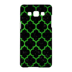 Tile1 Black Marble & Green Brushed Metal Samsung Galaxy A5 Hardshell Case