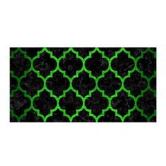 Tile1 Black Marble & Green Brushed Metal Satin Wrap