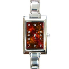 Spiders On Red Rectangle Italian Charm Watch
