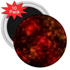 Spiders On Red 3  Magnets (10 Pack)