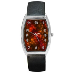 Spiders On Red Barrel Style Metal Watch