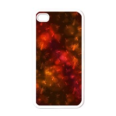 Spiders On Red Apple Iphone 4 Case (white)
