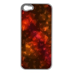 Spiders On Red Apple Iphone 5 Case (silver)