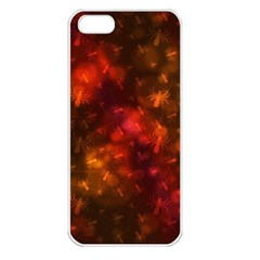 Spiders On Red Apple Iphone 5 Seamless Case (white)