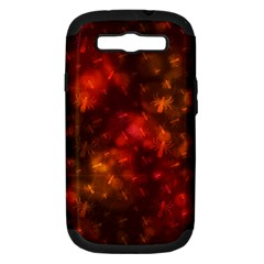 Spiders On Red Samsung Galaxy S Iii Hardshell Case (pc+silicone)