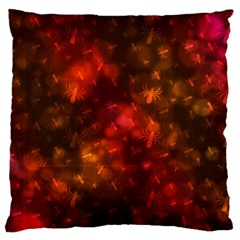 Spiders On Red Large Flano Cushion Case (two Sides)